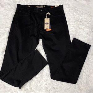 Dockers Slim Fit Black Khakis NWT